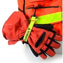 Porte gants jaune