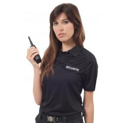Polo noir SECURITE polyester