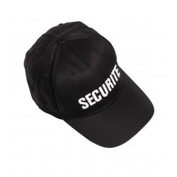 Casquette Baseball noire SECURITE
