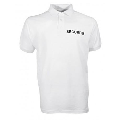 Polo blanc Sécurité