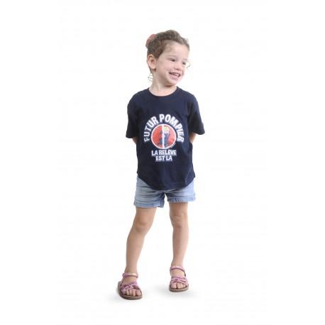 "Tee-shirt marine pompier ""la relève"""