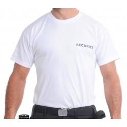 Tee-shirt blanc SECURITE