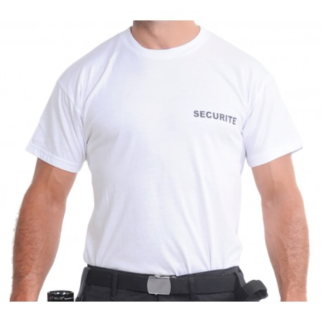 Tee-shirt blanc SECURITE