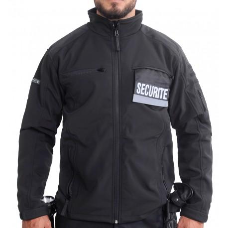 Blouson Softshell noir SECURITE