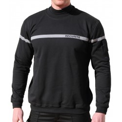 Sweat noir bande grise SECURITE