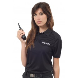 Polo noir SECURITE polyester