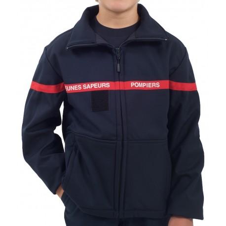 Veste softshell Jeunes Sapeurs Pompiers
