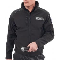 Blouson SoftShell SECURITE noir