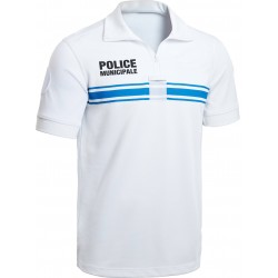 Polo blanc MC Police Municipale