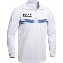 Polo blanc ML Police Municipale