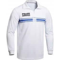 Polo blanc ML Police Municipale