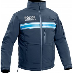 Veste softshell marine Police municipale