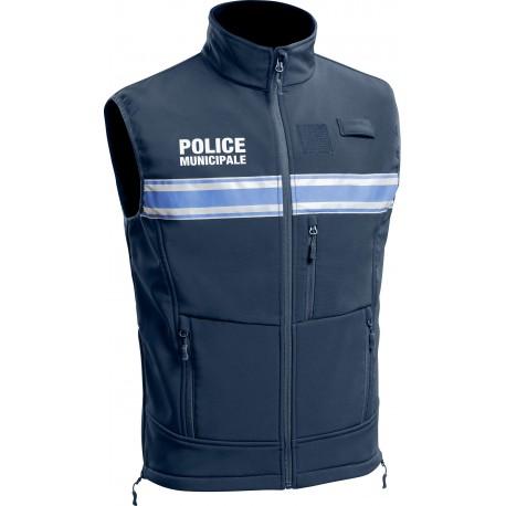 Gilet softshell marine Police Municipale